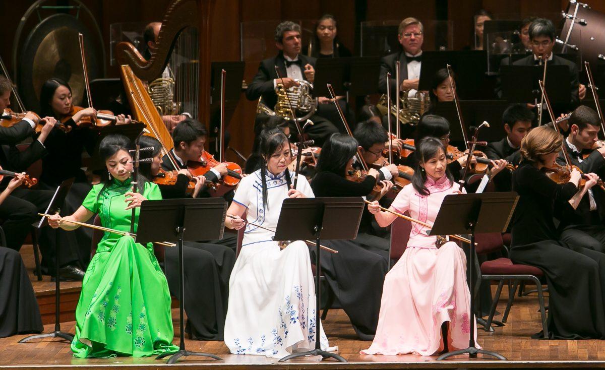 Những nghệ sĩ độc tấu đàn nhị của Dàn nhạc Giao hưởng Thần Vận