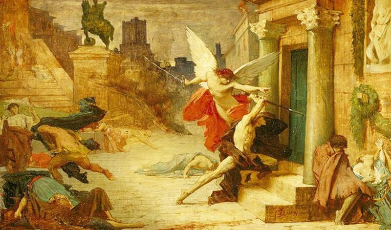 """Bức danh họa """"Dịch hạch ở thành Rome""""."""
