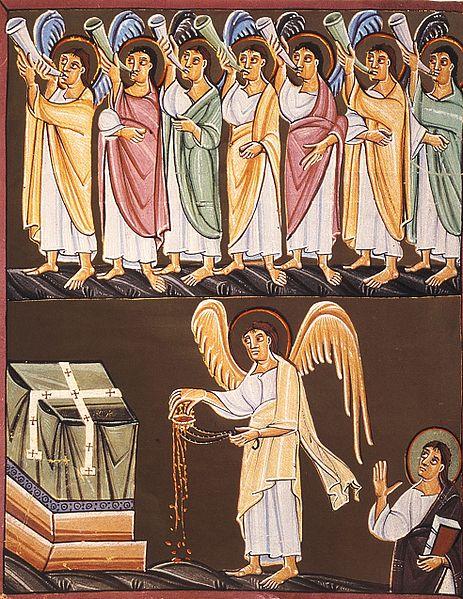 Tranh: Bảy vị thiên sứ với bảy cây kèn.