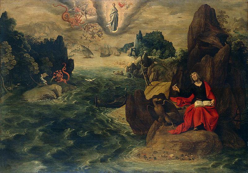 Tranh: Thánh John, tác giả Khải Huyền.
