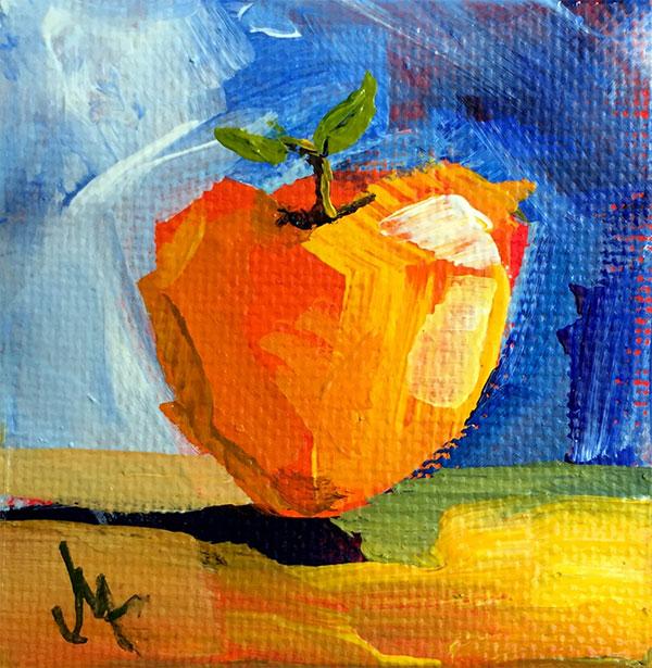 Một quả táo vẽ theo phong cách ấn tượng