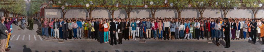 """Bức tranh """"Ngày 25 tháng 04 năm 1999"""" của họa sĩ Haiyan Kong."""