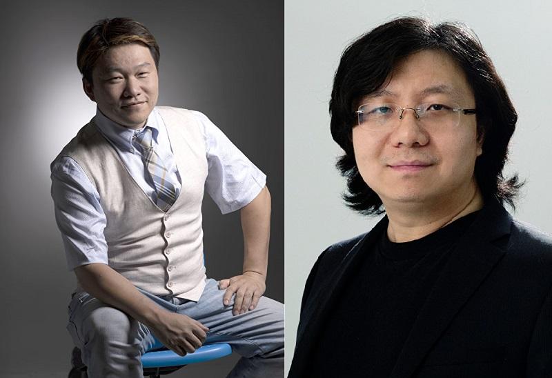 Chỉ đạo nghệ thuật Quách Cạnh Hùng (trái) và đạo diễn Mã Diễm (phải)