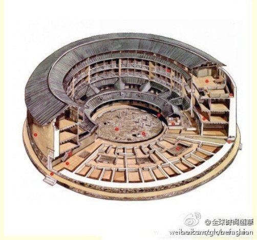 10. Lầu Nhị Nghi ở Hoa An, Phúc Kiến.