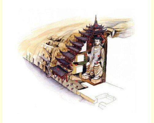 5. Hang đá Mạc Cao 96 (còn gọi là hang Đôn Hoàng, hay Thiên Phật Động) ở thành phố Đôn Hoàng, Cam Túc. Đây là một trong 492 ngôi đền thuộc quần thể hang động này.