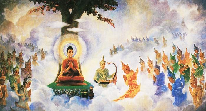 Bậc trí giả sống nơi bụi trần nhưng lại không bị mê hoặc bởi hình tướng bên ngoài, có thể buông bỏ phần người để tiến về phía Thần