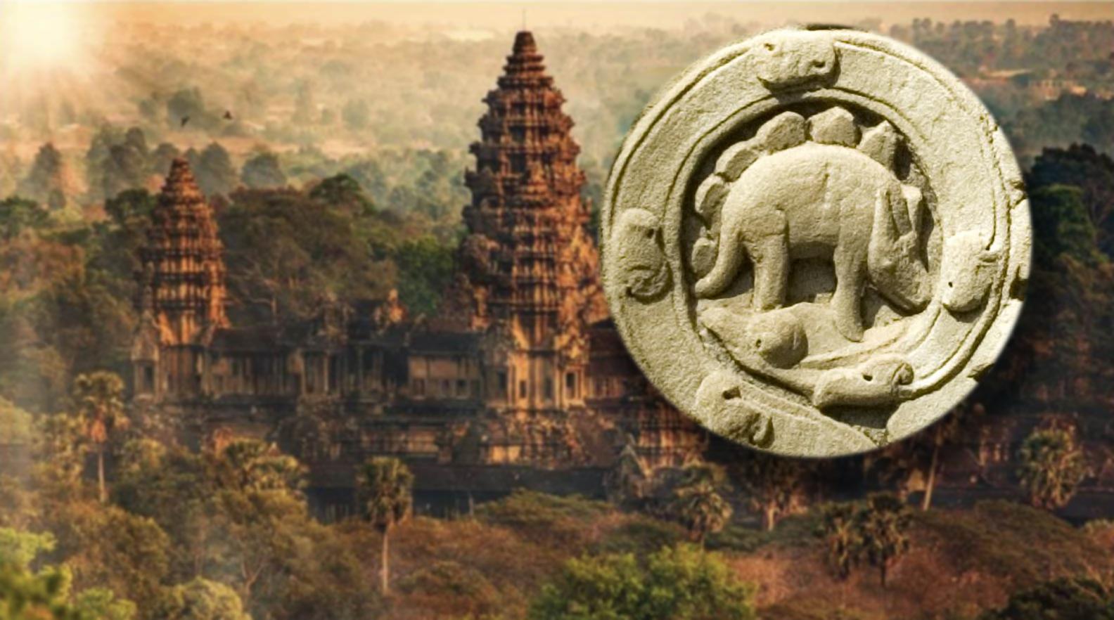 Tại sao trong thành phố cổ đại Angkor của đế quốc Khmer lại có khắc hình khủng long phiến sừng Stegosaurus? (Ảnh: t/h)