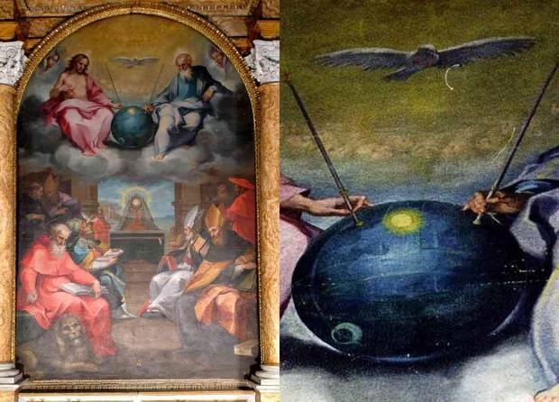 """UFO trong bức tranh """"Sự ca ngợi Chúa trời"""" - 2"""