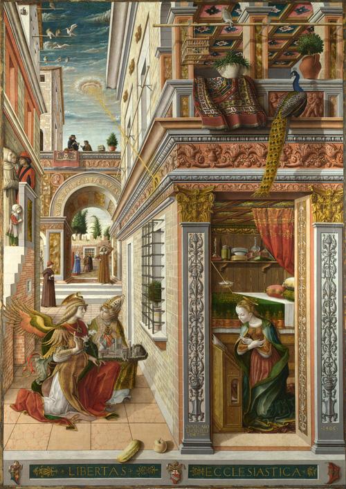 """UFO trong Bức tranh """"Sự truyền tin của Thánh Emidius"""""""